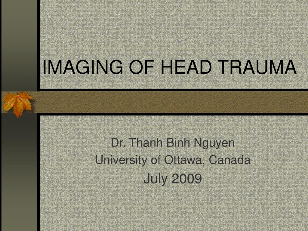 imaging of head trauma