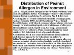 distribution of peanut allergen in environment