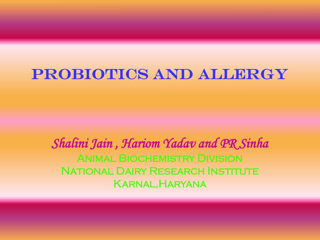 probiotics and allergy l.