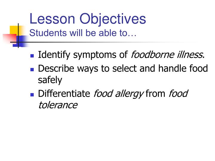 Lesson objectives students will be able to