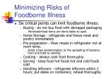 minimizing risks of foodborne illness6