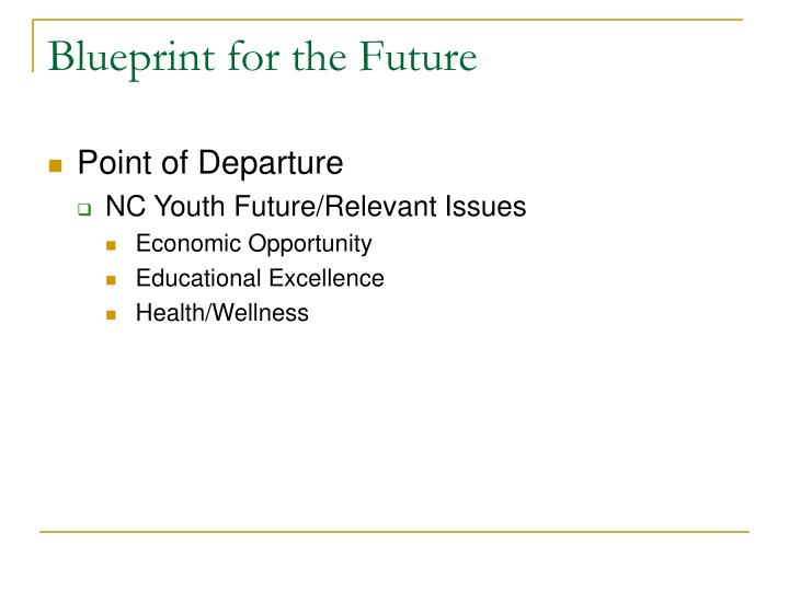 Blueprint for the future1