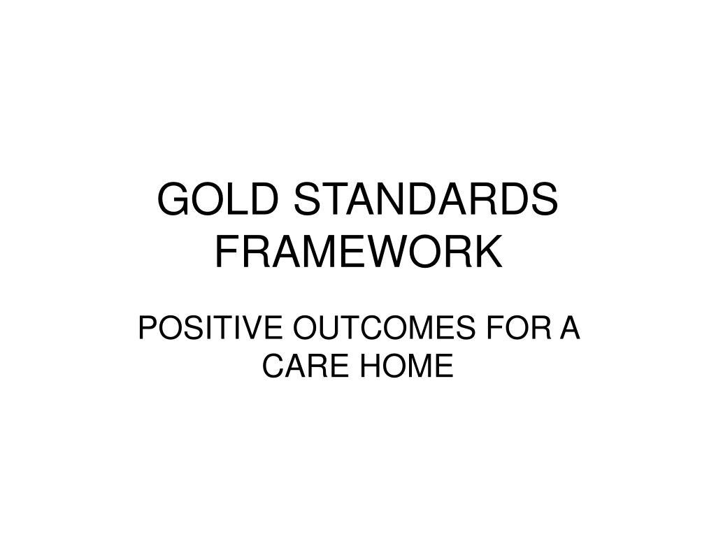 gold standards framework l.