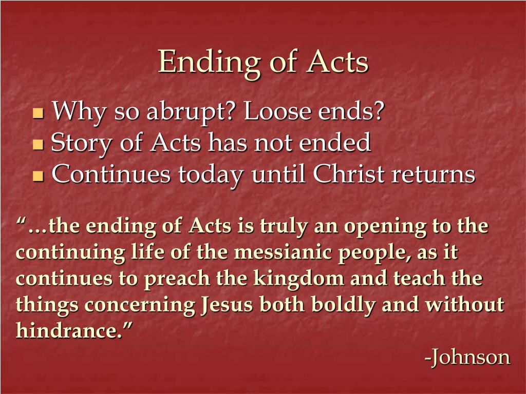 Ending of Acts