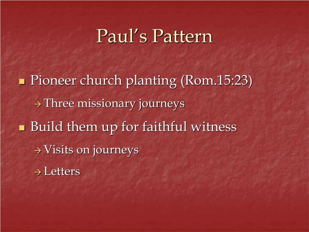 Paul's Pattern