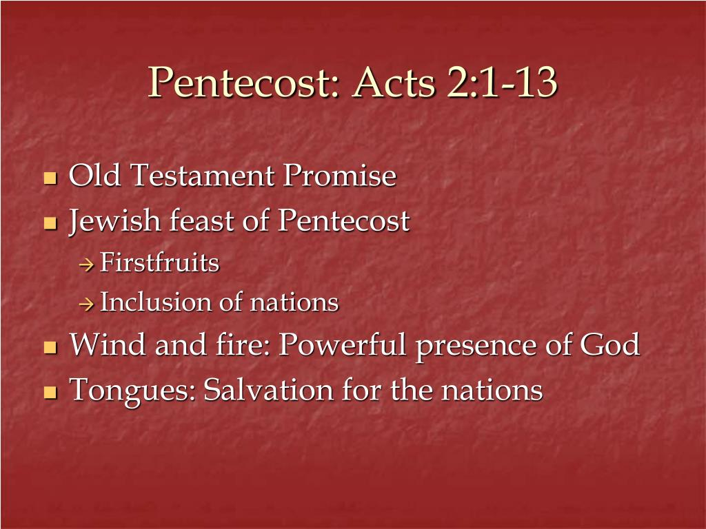 Pentecost: Acts 2:1-13