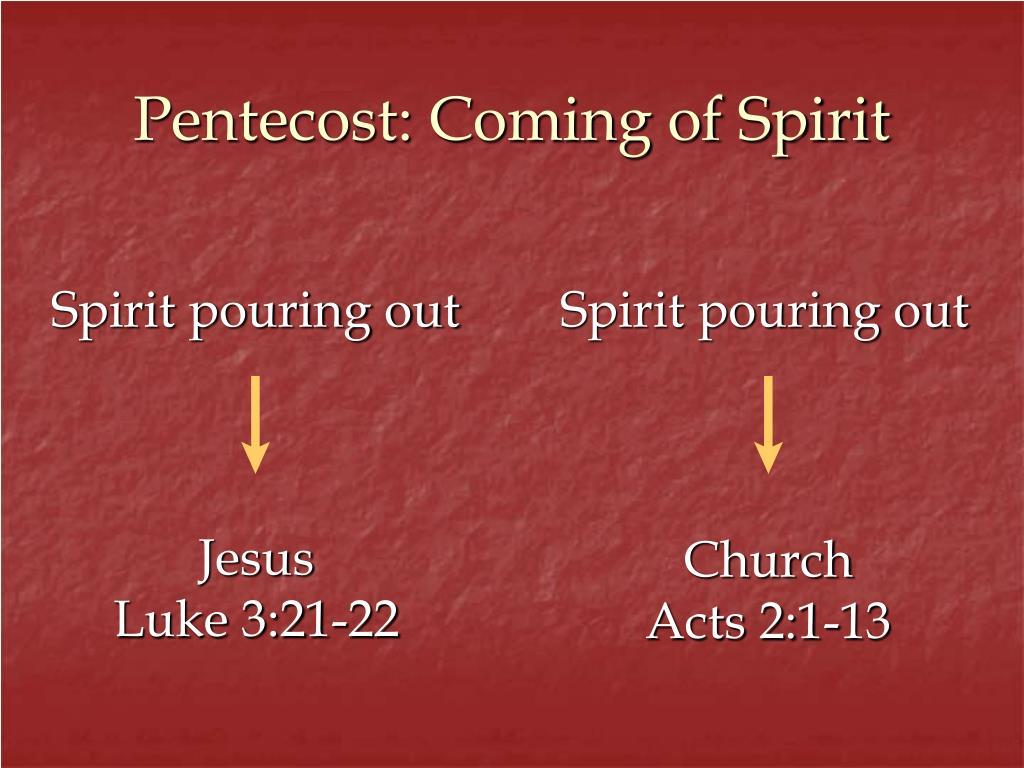 Spirit pouring out
