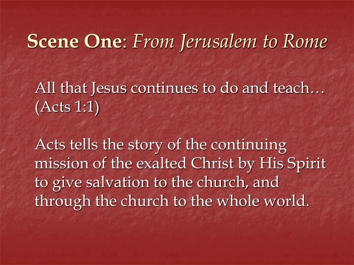 Scene one from jerusalem to rome