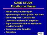case study foodborne illness