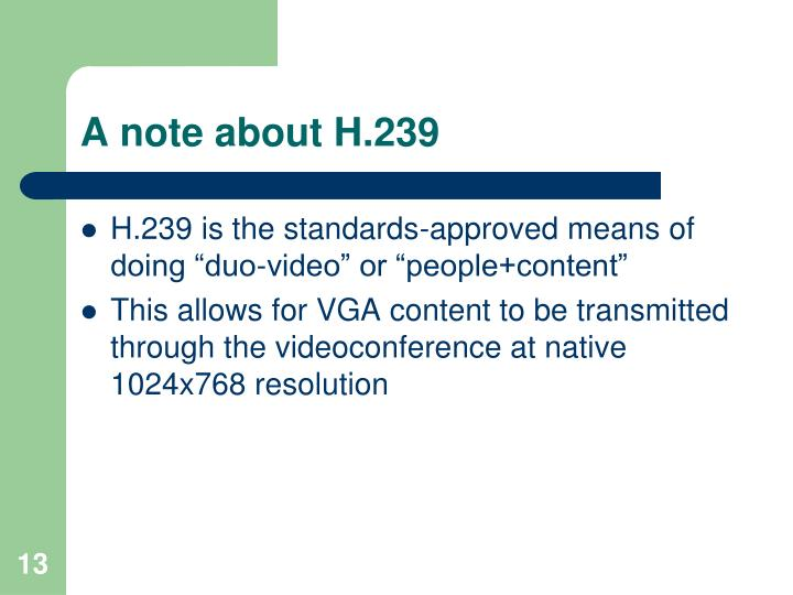 A note about H.239