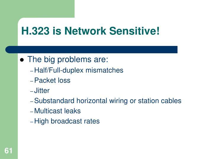 H.323 is Network Sensitive!