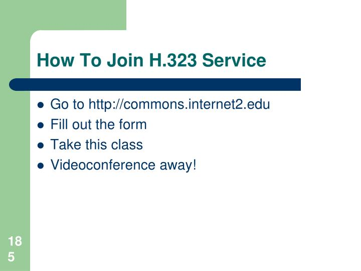 How To Join H.323 Service