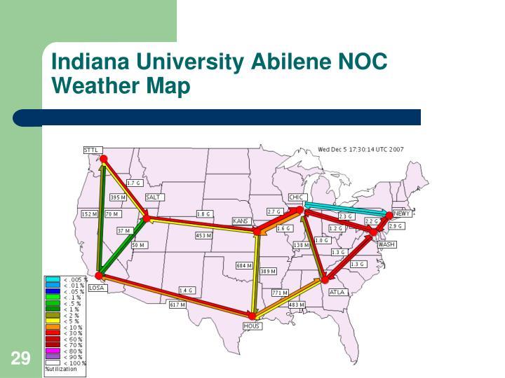 Indiana University Abilene NOC Weather Map