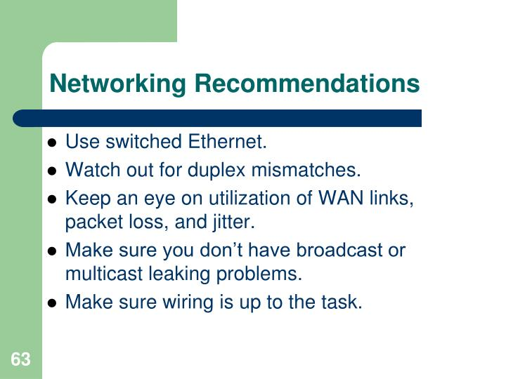 Networking Recommendations