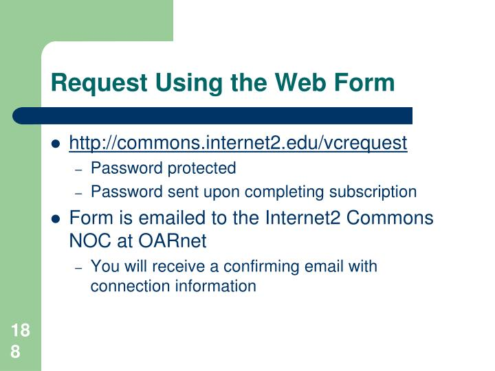 Request Using the Web Form