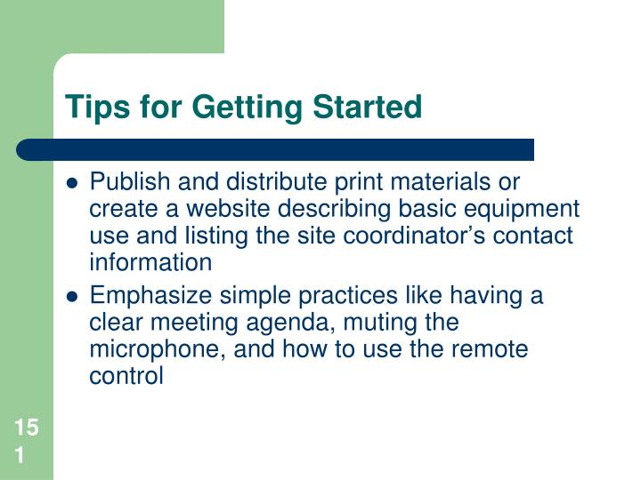 Tips for Getting Started