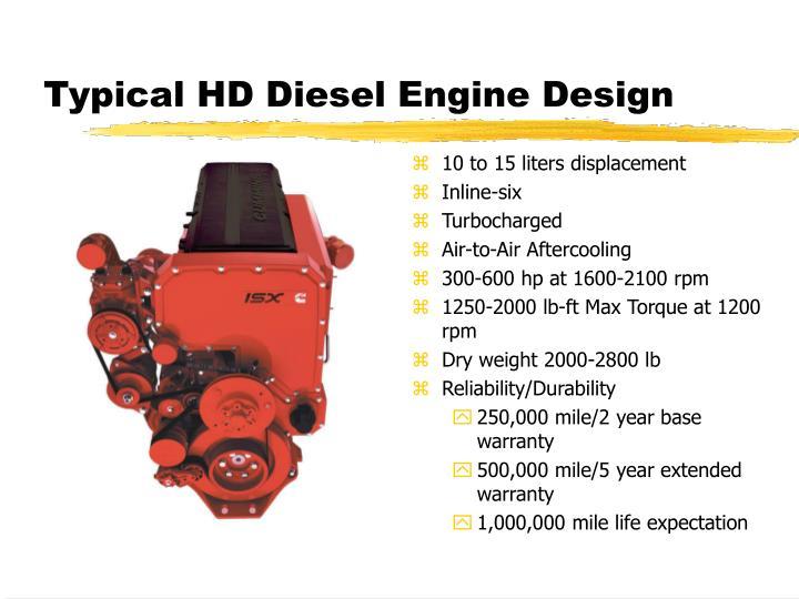 Typical hd diesel engine design