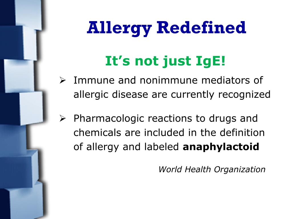 Allergy Redefined