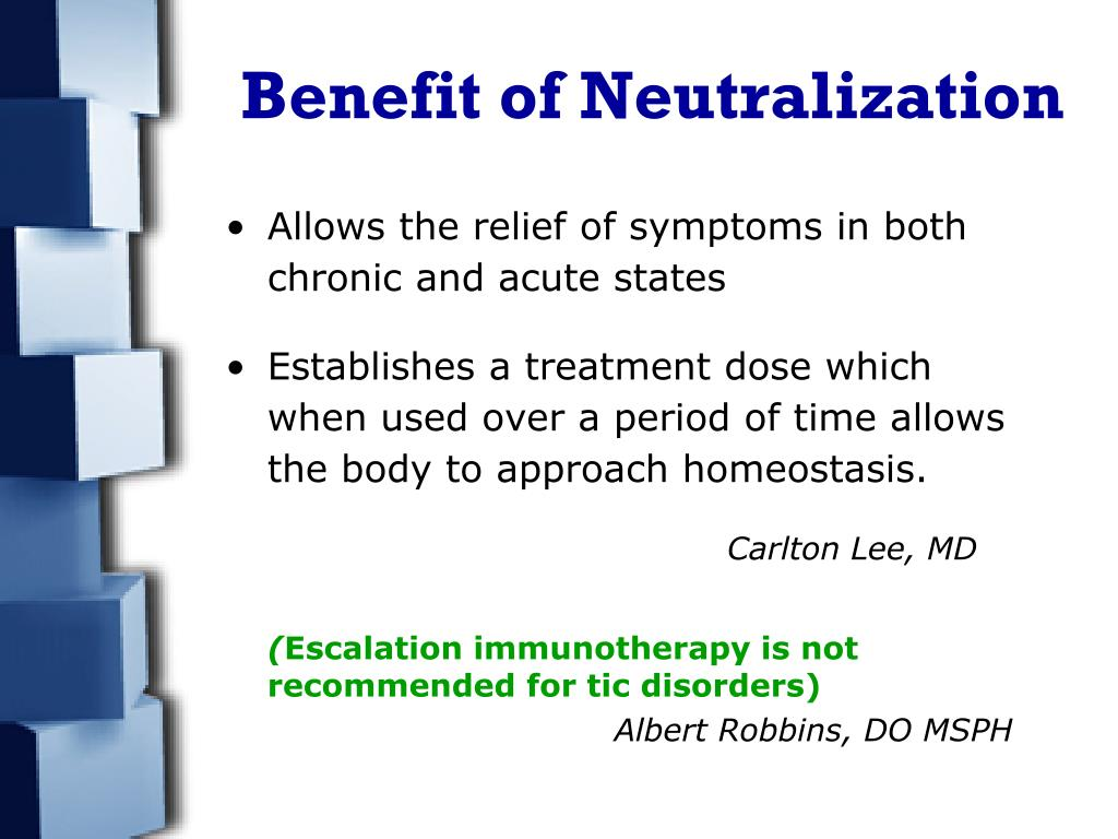 Benefit of Neutralization