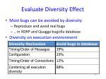 evaluate diversity effect