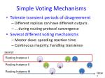 simple voting mechanisms