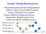 simple voting mechanisms20
