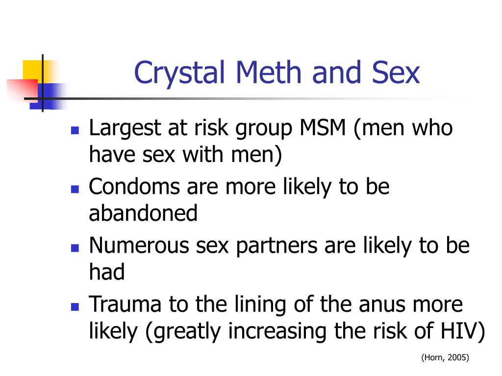 Crystal Meth and Sex