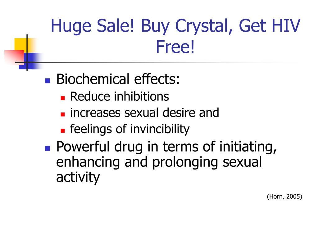 Huge Sale! Buy Crystal, Get HIV Free!