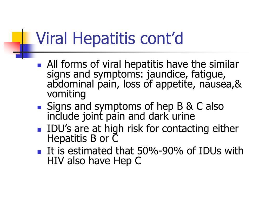 Viral Hepatitis cont'd