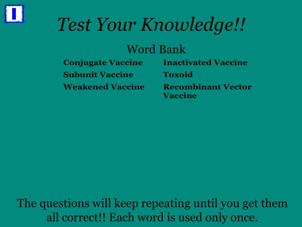 Test Your Knowledge!!