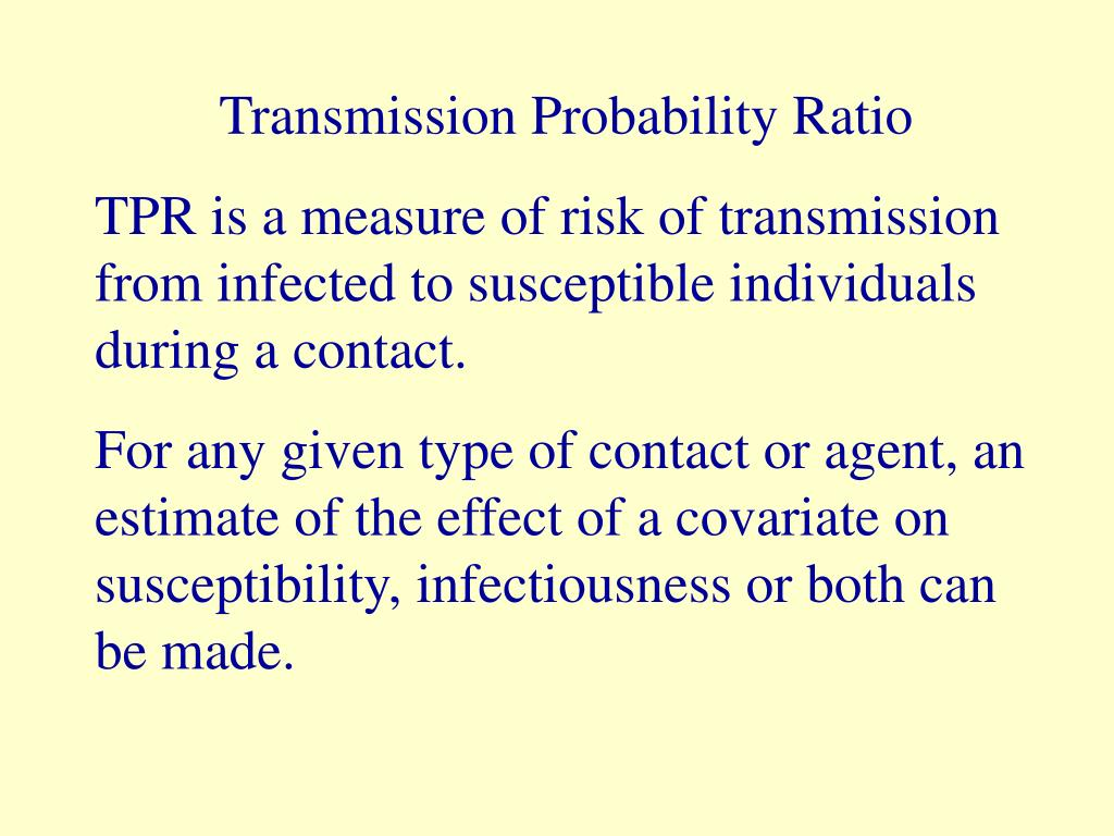 Transmission Probability Ratio