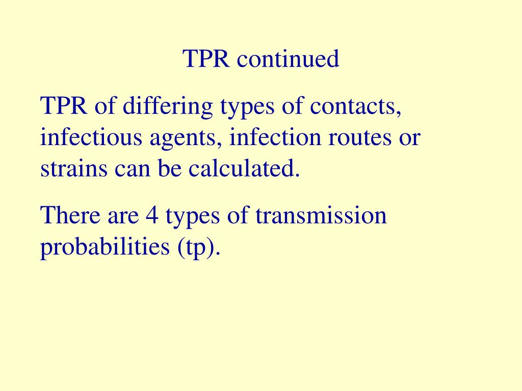 TPR continued