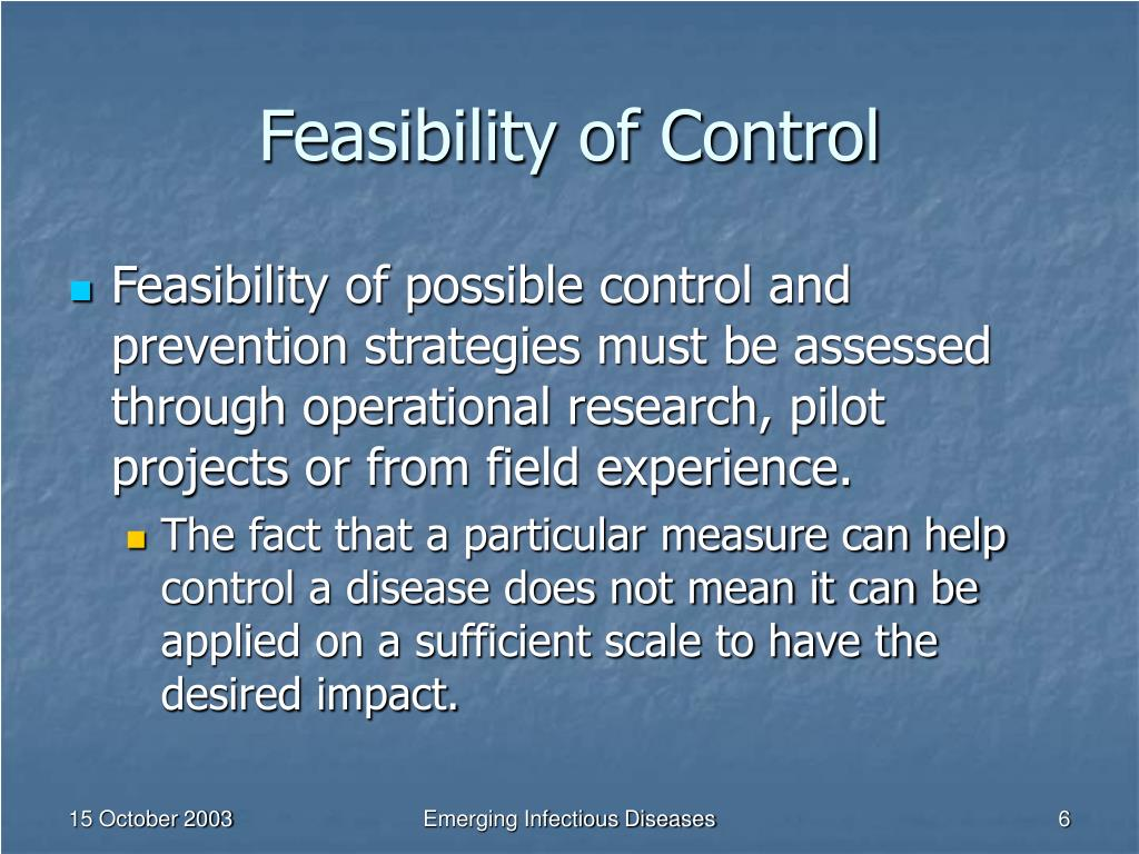 Feasibility of Control