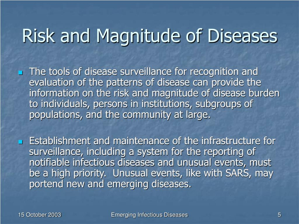 Risk and Magnitude of Diseases