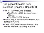 occupational deaths from infectious diseases hepatitis b
