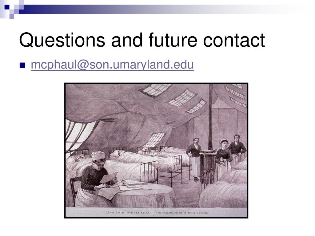 Questions and future contact