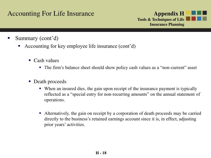 Accounting For Life Insurance