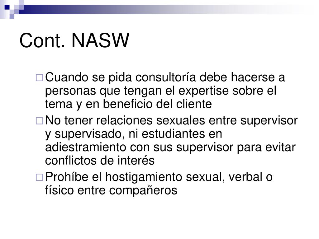 Cont. NASW