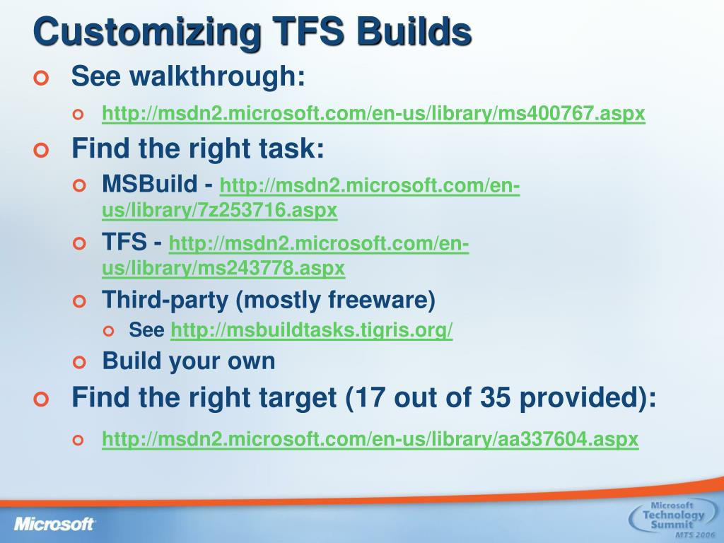 Customizing TFS Builds