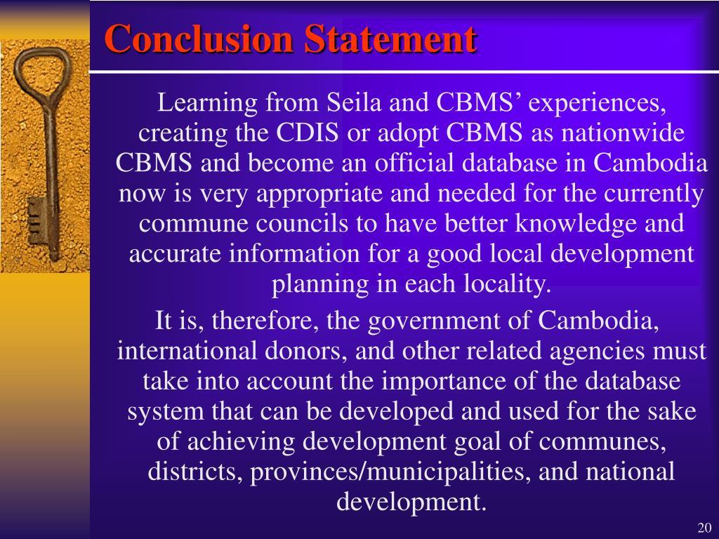 Conclusion Statement