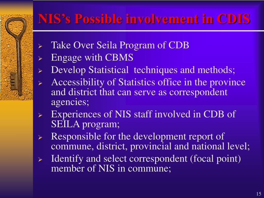 NIS's Possible involvement in CDIS