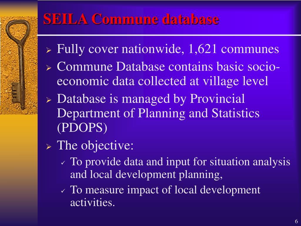 SEILA Commune database