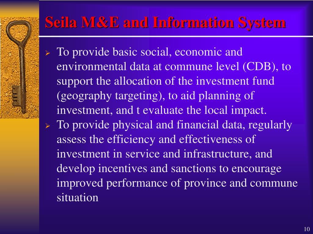 Seila M&E and Information System