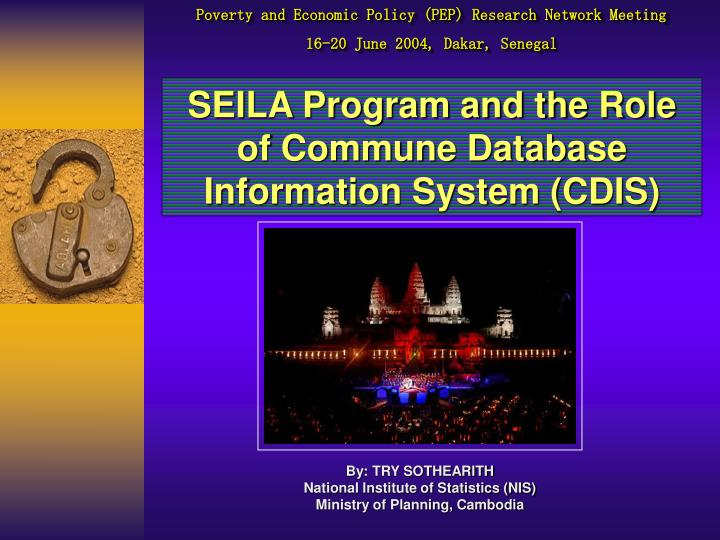 Seila program and the role of commune database information system cdis