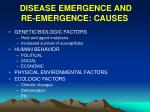 disease emergence and re emergence causes