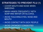 strategies to prevent flu 1
