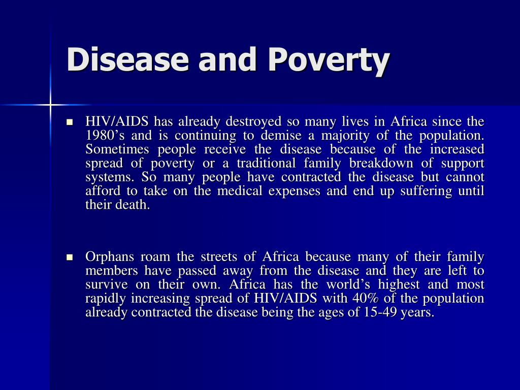 Disease and Poverty