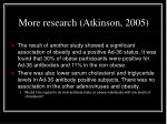 more research atkinson 2005