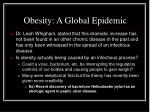 obesity a global epidemic
