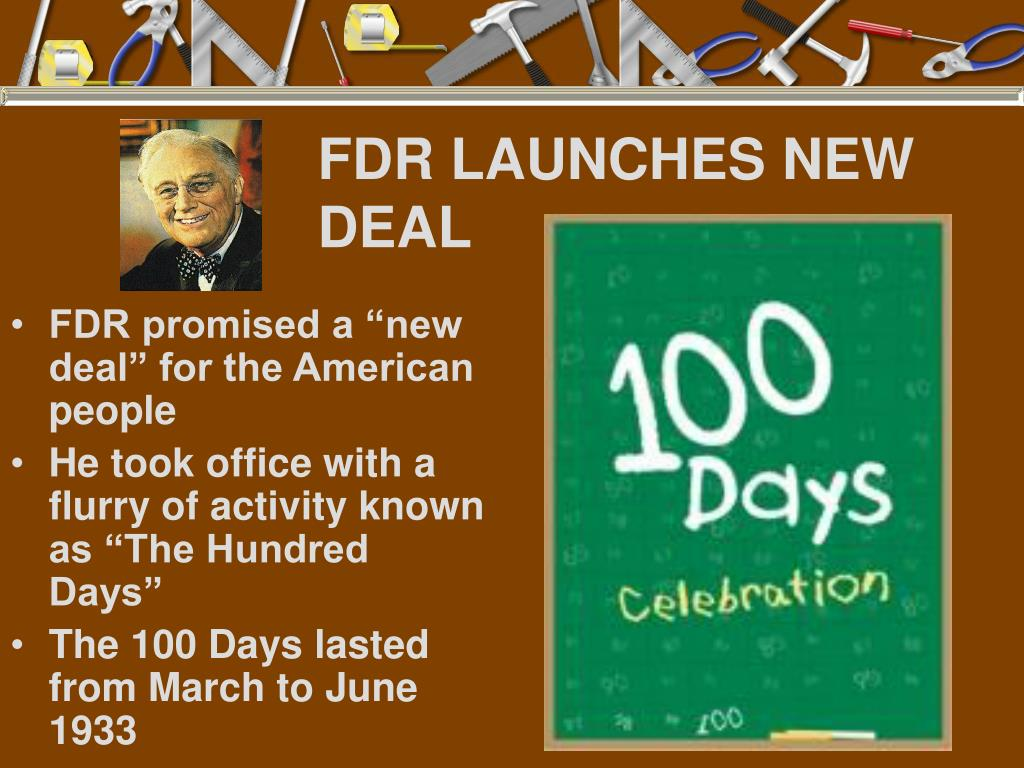 FDR LAUNCHES NEW DEAL
